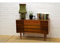 vintage sideboard Uniflex tv stand mid century danish design