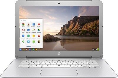 "HP - 14"" Chromebook - Intel Celeron 4GB Memory 16GB eMMC Flash Memory - Silver"