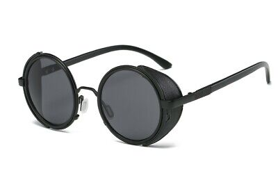 Rock and Roll Style of Steam Punk Wind Circle Metal Sunglasses for Men and (Rock And Roll Sunglasses)