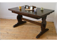 vintage dining table kitchen table Ercol blue label extending