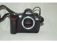 Nikon D70 SLR body only (+charger and memory card)