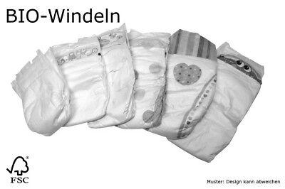 BIO Babywindeln Größe 1 Newborn 4 kg 28 Stück B-Ware weiche, dehnbare Seiten