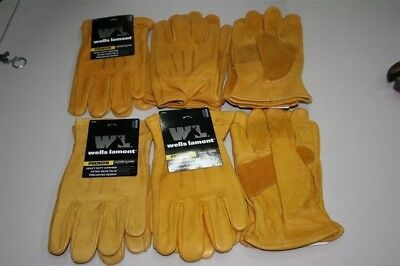 6 Pairs Wells Lamont Heavy Duty Leather Work Gloves Premium Large Cowhide Usa Nw