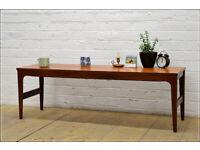 vintage teak coffee table McIntosh extending danish mid century