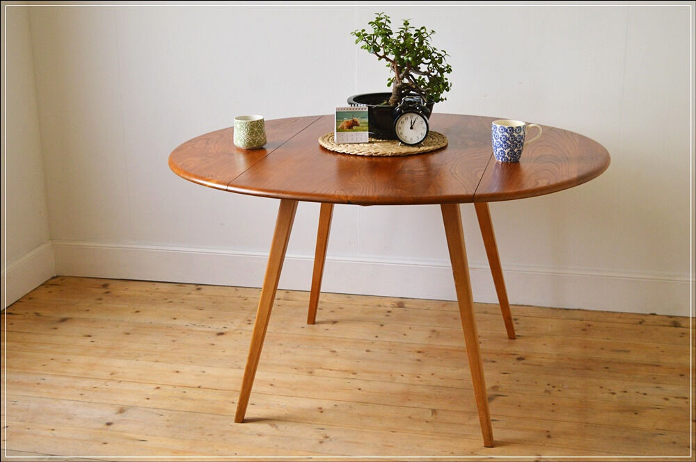 Superieur Vintage Ercol Dining Table Kitchen Table Drop Leaf Blonde Blue Label