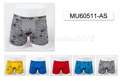 5pc Size 7 6-8 years Comfort Cotton Boys Boxer Briefs Spider Kids Underwear