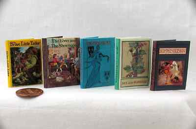 1:6 Scale CLASSIC FAIRY TALES Set of 5 Books Readable Illustrated Books