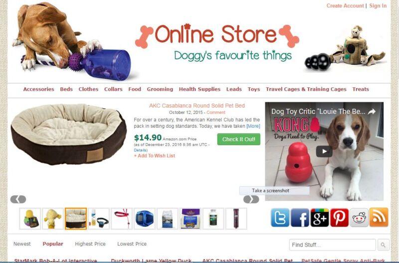 Dog Items Affiliate Store Website Free Installation + Hosting