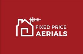 Digital tv aerial & sky installation/ repair Glasgow Clydebank Dumbartonshire fixed price £80