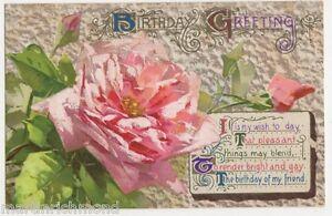 C. Klein, Flowers, Roses, Wildt & Kray Series 1950 Postcard #4, B489