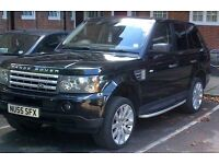 Metallic Black Range Rover Sports Supercharged 2005 LPG Converted