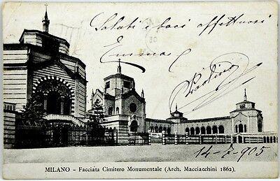 Monumental Arch (Cartolina Formato Piccolo - Milano - Facciata Cimitero Monumentale Arch. Macciac)