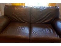 Milano Leather 3 seater sofa chocolate brown