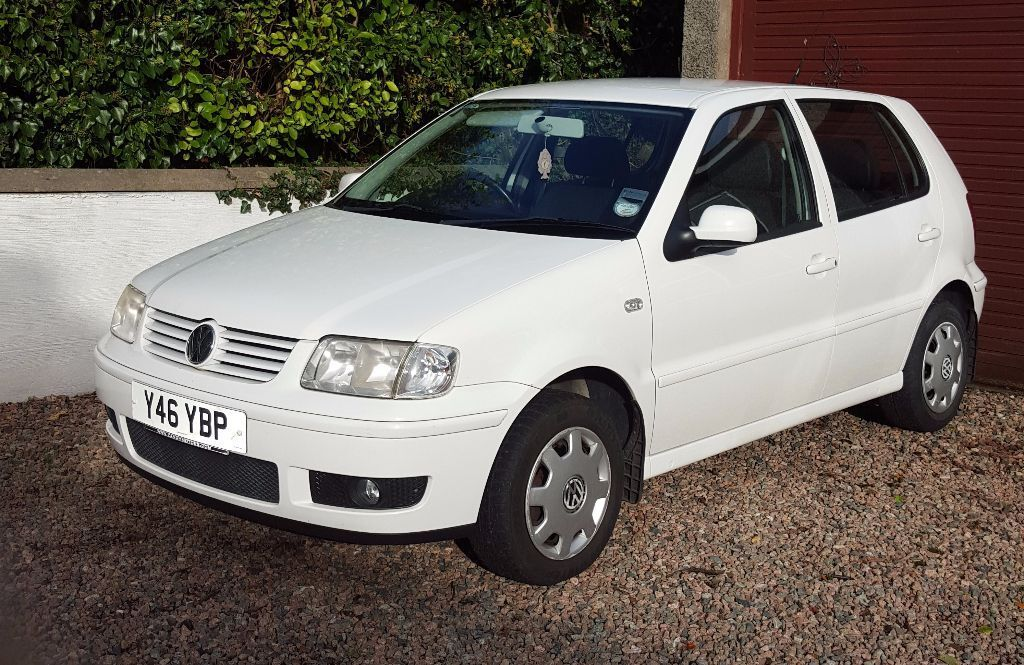 volkswagen polo 1 4 match 2001 white 12 months mot in carrickfergus county antrim gumtree. Black Bedroom Furniture Sets. Home Design Ideas