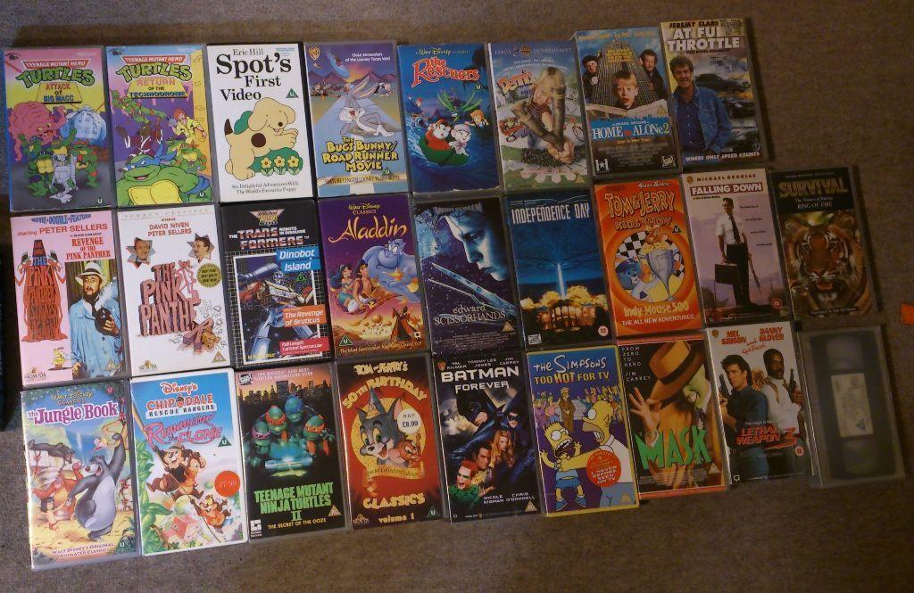 55x Vhs Family Films Movies Classics Disney Transformers