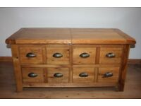 Wooden coffee table with storage drawers only £100