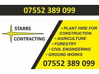 Mini digger hire with experienced fully insured operators. landscape work, foundations, drainage,etc