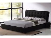 Boston Black 5ft King Size Leather Bed Frame