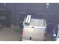 Renault trafic 2008 roof rack/Nissan primastar /vauxhall vivaro with 2 Rhino lockable tube holders