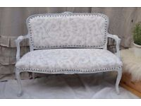 Shabby Chic Rococo French Style Louis Distressed Look Sofa Laura Ashley Fabric