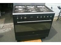 Smeg range duel fuel double fan oven with rotisserie