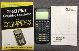 "Calculator (Graphing) - Texas TI-83 Plus inc Manual & ""Dummies"" Guide"