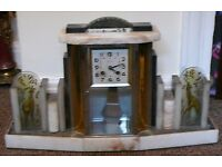 antique french clock. large clock art deco in style spares or repaires