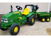 Rolly John Deere Tractor , Trailer and Excavator