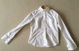 WHISTLES LADIES WHITE FITTED SHIRT SIZE 10