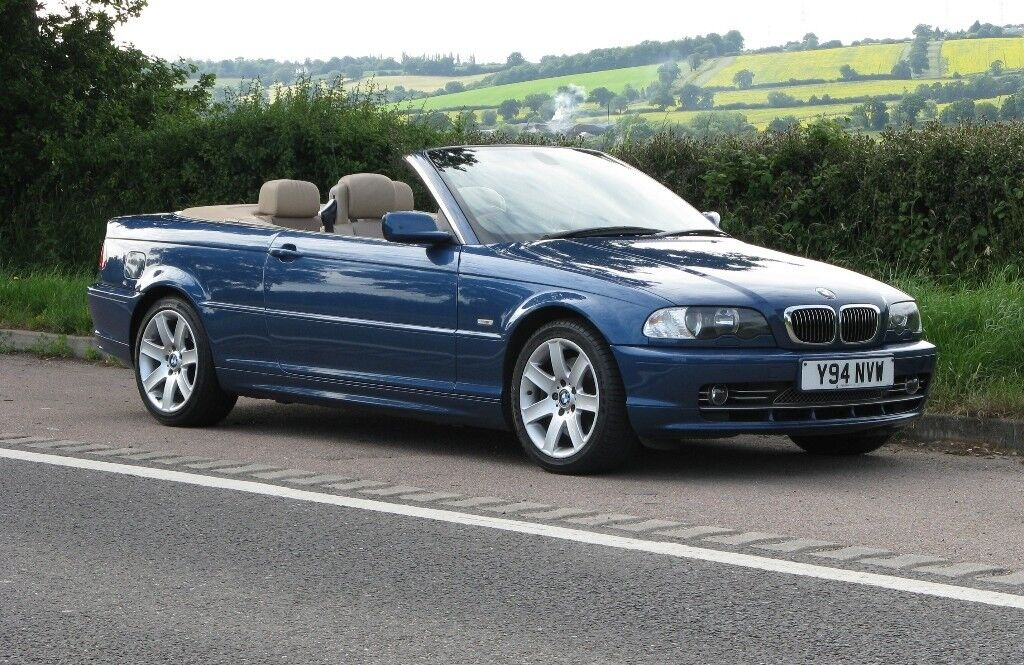 Bmw E46 330ci Convertible Manual Topaz Blue Cream Leather Many Factory Options Inc Satnav Xenons