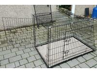 Dog cage crate large