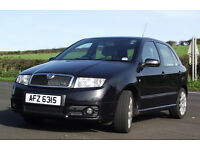 Skoda Fabia VRS (Diesel) 2004 One previous owner, Standard , Good condition , 116K miles , Black