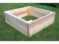 Large Sturdy Wooden Raised Vegetable/Flower Bed   Planter   Grow Bed   Hand Made   Long Lasting