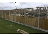🍁Pressure Treated Wooden Trellis Fence Panels