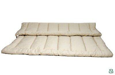 Organic Wool TWIN MATTRESS TOPPER/PAD Hypoallergenic - Organic Wool Mattress Topper