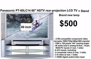 """Panasonic PT-60LC14 60"""" HDTV-ready rear-projection LCD TV  with stand  I'm also willing to trade it"""