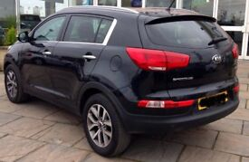 Kia Sportage 2 ISG CRDI 2015 low mileage black car SUV