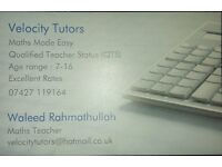 MATHS TUITION WITH A QUALIFIED TEACHER