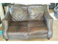 Itialian leather settee