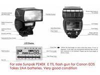 Sunpak PZ40X Flash for canon