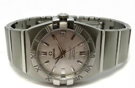 GENTS OMEGA CONSTELLATION 1501.30.00 STEEL AUTOMATIC CO-AXIAL DOUBLE EAGLE WATCH