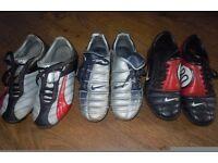 3 PAIRS JUNIOR FOOTBALL BOOTS
