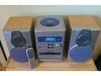 Hi-Fi audio system, speakers & remote contrоl. Perfеct working and cоsmetic condition!