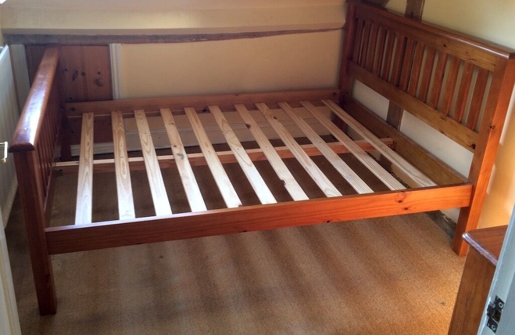 Very Sturdy Wooden Double Bed Frame In Stroud Gloucestershire