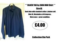 *** BLACK TAG by ZARA MAN Formal Shirt - Size:XL ***