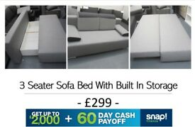 3 Seater Sofa Bed Grey - 02