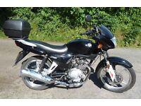 AJS JS 125 E2 black motorbike motorcycle 2012