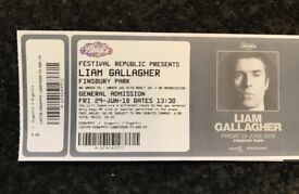 Liam Gallagher Finsbury Park tickets x 3 29th June ....... I paid £125 each for the tickets.