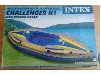 Two Challanger K1 Inflatable Kayaks new in box, includes pump and paddle