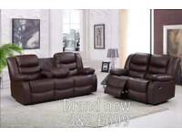 Brand new recliner 3&2 seater sofas free delivery 07808222995